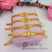 手鍊/鍍金手錶鏈首飾仿真手鏈女「歐洲站」