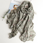 新款時尚棉質柔軟絲巾圍巾 文藝空調披肩 防曬披肩67