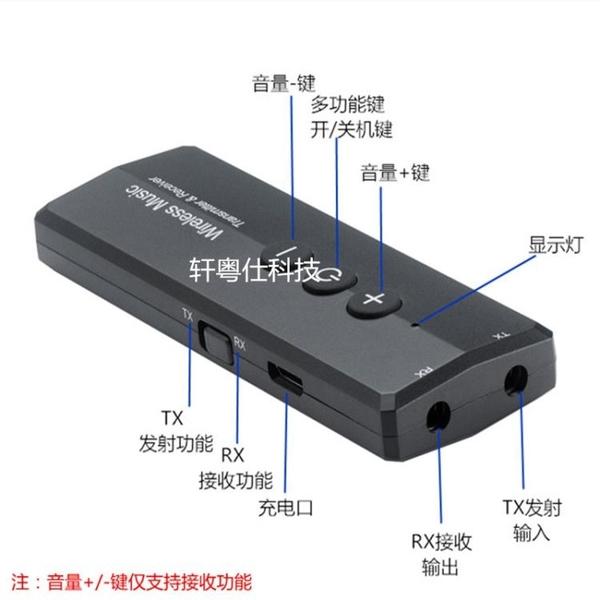 適配器 藍芽接收器發射器二合一5.0臺式電腦電視音頻3.5mm無線藍芽 風馳