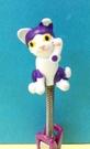【震撼精品百貨】PostPet_MOMO熊~MOMO熊電腦辦公夾子-紫色/貓咪#71841