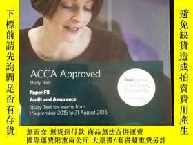 二手書博民逛書店ACCA罕見Approved Study Text Paper F8 Audit and AssuranceY