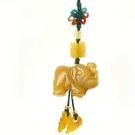 天然黃玉大象吊飾...
