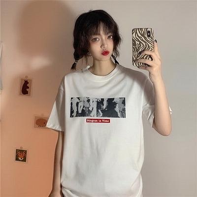 (下殺)彈性棉市場價短袖T恤印花【08SG06619】