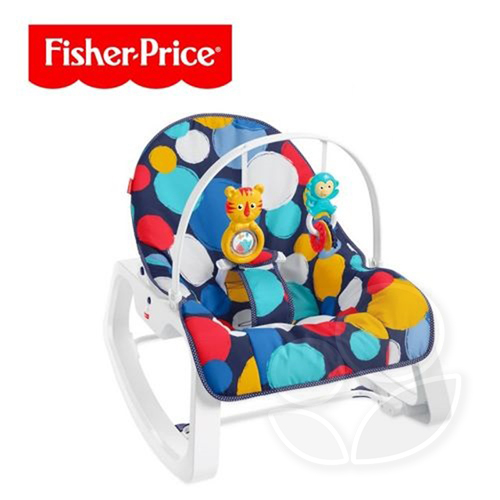 Fisher-Price 費雪 繽紛圓點安撫躺椅【佳兒園婦幼館】