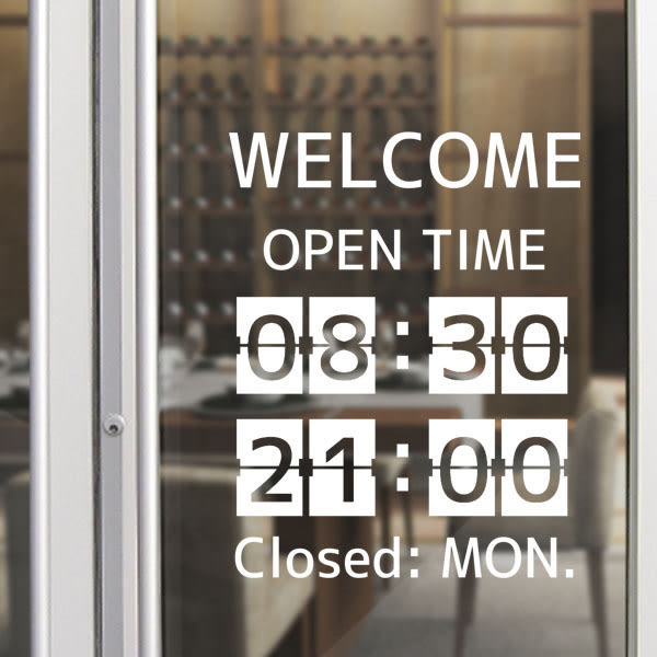 【ARDENNES】營業時間貼 / 開店時間 / 店面、公共場所 防水貼紙 PCT031記分板