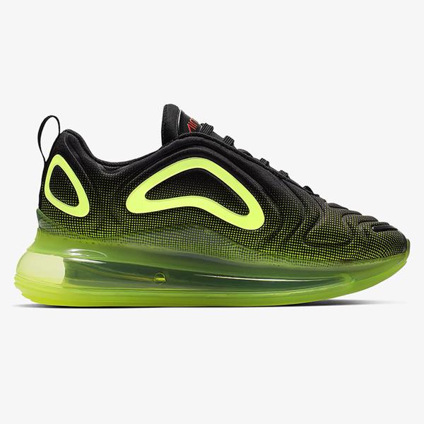 Nike Air Max 720 GS 女鞋 大童 慢跑 休閒 氣墊 避震 黑 綠【運動世界】AQ3196-005