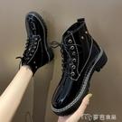 馬丁靴小個子馬丁靴女新款百搭厚底學生秋季英倫風短靴顯腳小瘦瘦靴 快速出貨