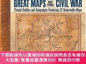 二手書博民逛書店Great罕見Maps Of The Civil WarY255174 Miller, William J.