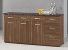 【森可家居】羅納爾5.2尺石面收納櫃下座 8CM914-1  餐櫃 廚房櫃 中島 碗盤碟櫃 木紋質感 工業風