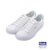 KEDS 帆布拼色綁帶休閒鞋 白綠 183W132661 女鞋