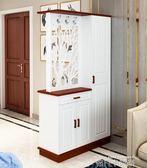 雙面玄關櫃隔斷櫃門廳櫃簡約現代歐式客廳鏤空入戶鞋櫃屏風裝飾櫃 QM依凡卡時尚