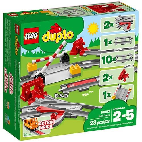 樂高積木 LEGO 2018《 10882 》DUPLO Town 得寶系列 - 列車軌道╭★ JOYBUS玩具百貨