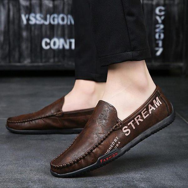 豆豆鞋 男士皮鞋懶人潮流休閒透氣韓版青年男鞋 迪澳安娜