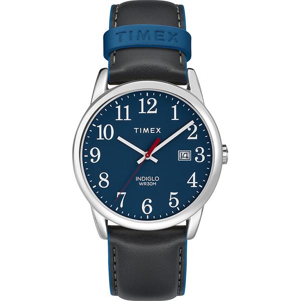 【TIMEX】Easy Reader系列 玩味個性跳色手錶(藍/ 黑 TXTW2R62400)