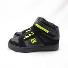 DC PURE HIGH-TOP EV 中童休閒鞋 麂皮拼貼 300324XKKY 黑X螢光綠【iSport愛運動】