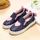 童鞋新款新款一腳蹬懶人鞋夏季兒童休閒鞋女童寶寶公主鞋皮面