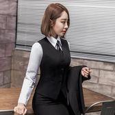 春秋職業裝女裝馬甲套裝工作服職業馬甲白襯衫套裙長袖正裝女套褲 滿899元八九折爆殺