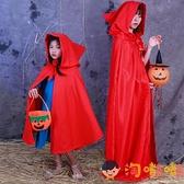 萬聖節服裝小紅帽兒童斗篷披風女童衣服表演道具【淘嘟嘟】