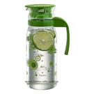 金時代書香咖啡  TIAMO 1215玻璃涼水壺 1200ml(花草綠) 通過SGS檢測  HG2108