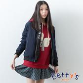 betty's貝蒂思 英倫格紋混羊毛短裙(藍色)