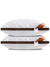 一對裝】枕頭枕芯家用酒店羽絲絨護頸椎枕雙人單人學生枕頭芯整頭