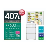 【HITACHI 日立 日本原裝】407公升窄身五門冰箱RSG420J-XW 琉璃白 比漾廣場