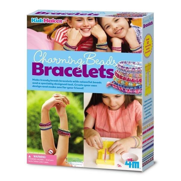 《4M美勞創作》閃耀串珠手環 Charming Beads Bracelets ╭★ JOYBUS玩具百貨
