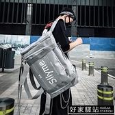 多功能雙肩包個性揹包滑板男休閒學生書包超大容量時尚潮女旅行包