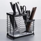 家用304不銹鋼刀架 廚房菜刀架置物架插刀座盒放刀具收納架瀝水盤 店慶降價