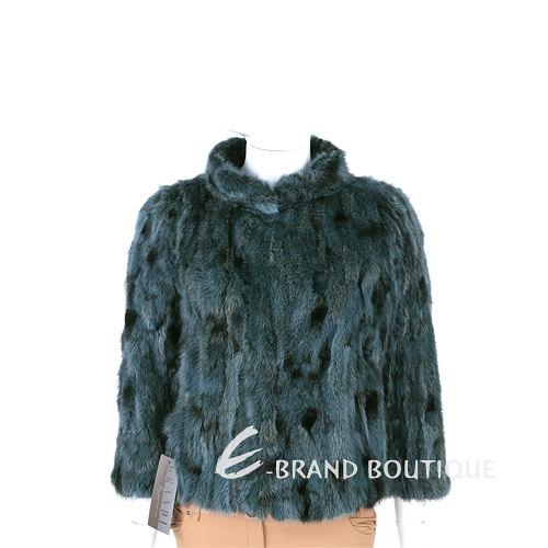 GRANDI furs 綠色立領設計皮草外套 1440006-08