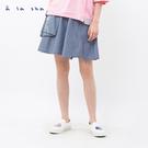 a la sha 不對稱阿財短褲裙