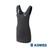 K-SWISS Logo Tank Top長版內搭背心-女-黑