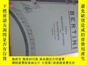二手書博民逛書店bertini罕見唱歌的8534FIFTY SELECTED S