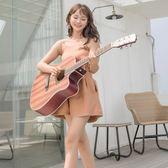 38寸單板初學者民謠木吉他 男女通用自學學生新手練習吉它. zh4521【原創風館】