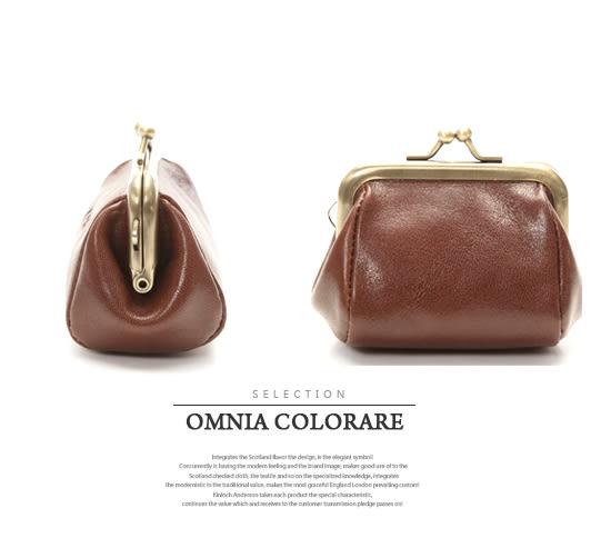 OMC - 真皮魅力款復古式零錢包-大