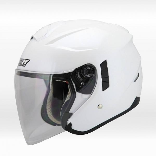 【OUTLET出清商品】M2R FR-1 白色 四分之三安全帽