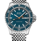 MIDO 美度 Ocean Star Tribute 海洋之星 特別版機械錶(M0268301104100)藍面/40.5mm附送原廠皮錶帶