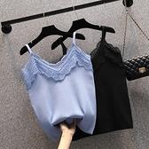 長袖針織衫 大碼大碼女裝春季新款吊帶衫胖妹妹200斤蕾絲上衣 9362F114依佳衣