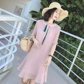 促銷價不退換中大尺碼M-4XL休閒雪紡連身裙新款女裝潮雪紡减齡心機裙子NE35-A-813