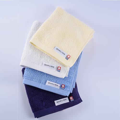 (小)日本製今治QUALINA銀抗菌印度有機棉面用巾/淡黃(月)