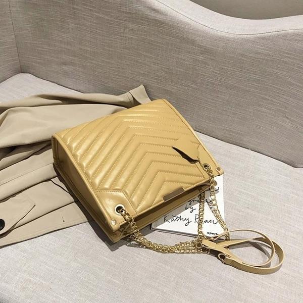 托特包-高級感包包2021新款小ck女包百搭洋氣潮流女大容量菱格托特斜揹包