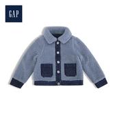 Gap女幼童保暖仿羊羔絨兩面穿牛仔衣519658-中度水洗