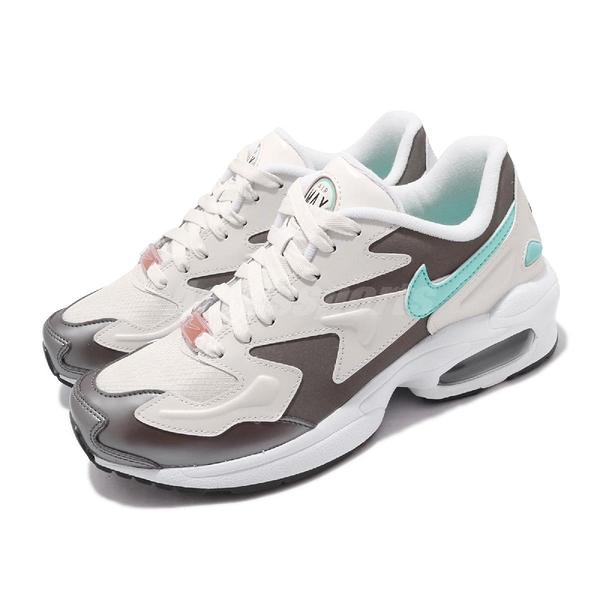 Nike 復古慢跑鞋 Wmns Air Max 2 Light SE 米白 綠 女鞋 氣墊 運動鞋 【PUMP306】 CJ7981-002