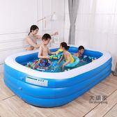 充氣泳池 兒童充氣游泳池加厚家用兒童寶寶海洋球池超大家庭小孩成人戲水池