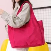 尼龍布輕便大容量手挽女包布包多兜舞蹈手提單肩旅游跨包  極有家