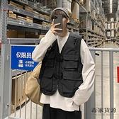 機能風工裝戰術馬甲男潮流嘻哈坎肩背心外套短款【毒家貨源】