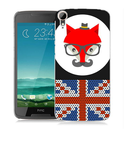 ♥ 俏魔女美人館 ♥ (狐狸國旗*立體浮雕水晶硬殼HTC Desire 828 手機殼 手機套 保護套 保護殼
