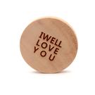 芬多森林|台灣紅檜客製化文字杯墊-愛你款,情人節原木隔熱墊禮物,婚禮小物,高品質雷射客製