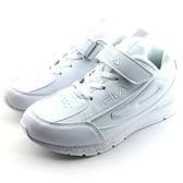 《7+1童鞋》FILA 魔鬼氈 休閒好搭  輕量舒適 運動鞋  4224   白色