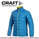 【CRAFT 瑞典 男 輕量羽絨外套《藍》】1902294/防水/防風/保暖外套/登山外套